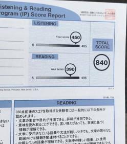 Ryoo Hamada - July 2017 TOEIC score (1)